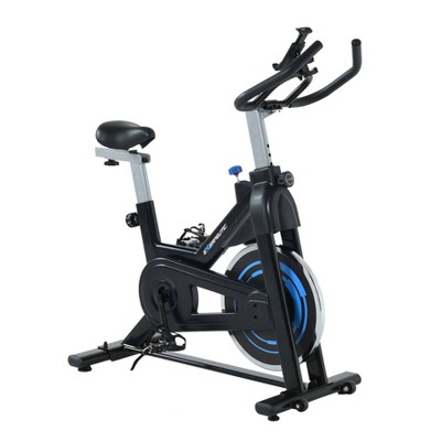 EXERPEUTIC Bluetooth Indoor Cycling Bike - Black/Blue