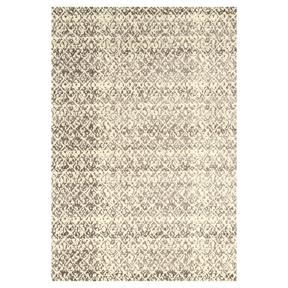 Cream/Gray (Ivory/Gray) Woven Area Rug - (7'10X11') - Room Envy