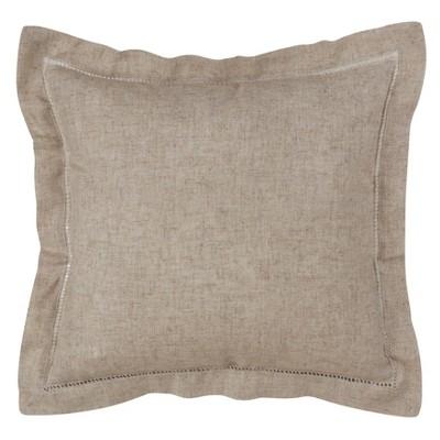 Down Filled Hemstitch Pillow - Saro Lifestyle