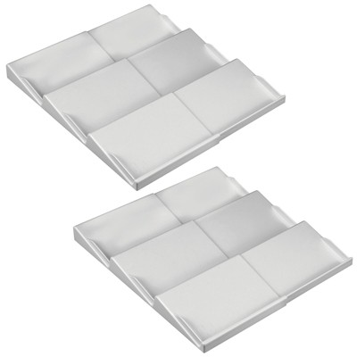 mDesign Plastic Bathroom Slanted Vitamin Storage Drawer Organizer, 2 Pack