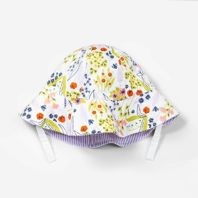 Baby Girls' Floral Reversible Hat - Cat & Jack™ Newborn
