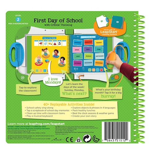 LeapFrog LeapStart Pre Kindergarden Activity Book First Day Of School And Critical Thinking Target