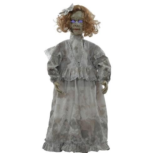 Cracked Victorian Doll Prop Halloween Decorative Sculptures - image 1 of 4