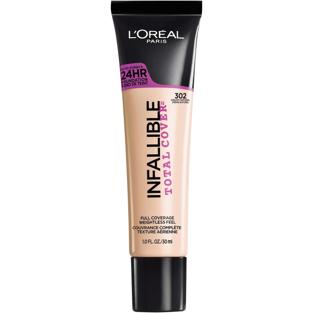 L'Oreal Paris Infallible Total Cover Foundation 302 Creamy Natural 1 fl oz