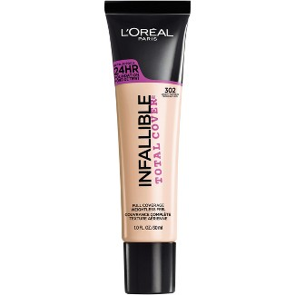 L'Oreal® Paris Infallible Total Cover Foundation 302 Creamy Natural 1 fl oz