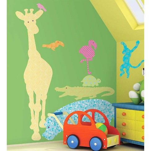 Jungle Animal Decorative Wall Stickers For Kids Rooms, Set Of 24 - Hearthsong - image 1 of 2