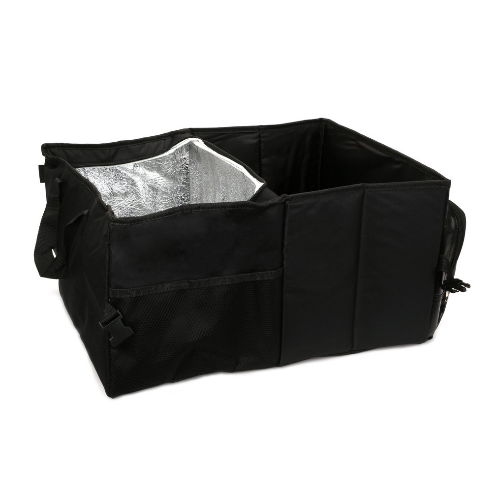 17 X13 2 Main Section Trunk Organizer With Cooler Black Turtle Wax