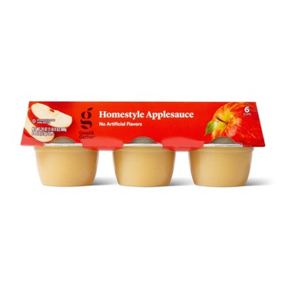 Homestyle Applesauce Cups - 6ct - Good & Gather™