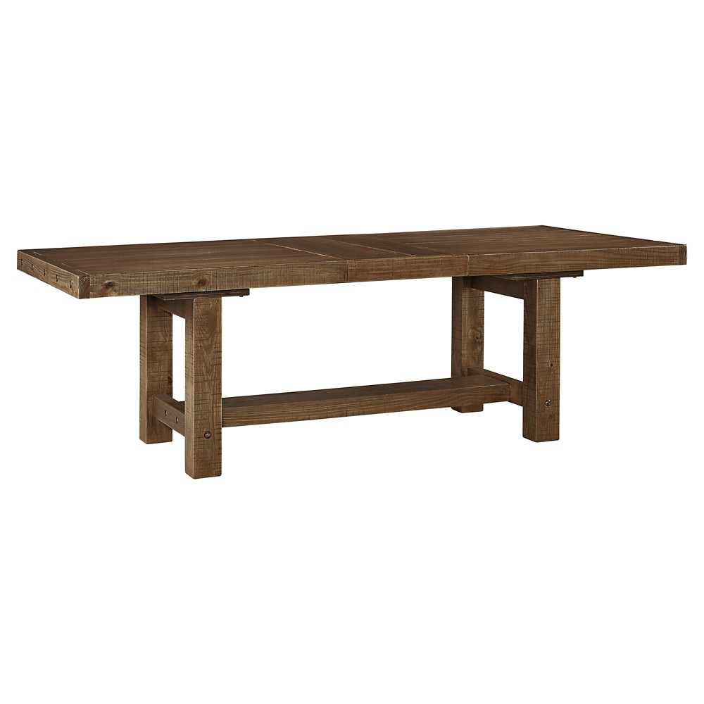 Tamilo Rectangular Dining Room Extendable Table Wood/Gray/Brown - Signature Design by Ashley, Washed Wood