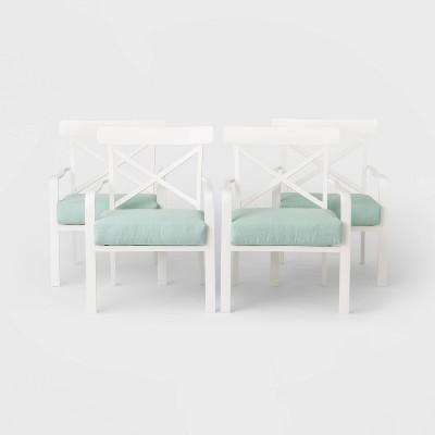 Berkley 4pk Patio Stationary Club Chair - White - Threshold™