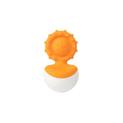 Fat Brain Toys Baby Rattle Dimpl Wobl - Orange
