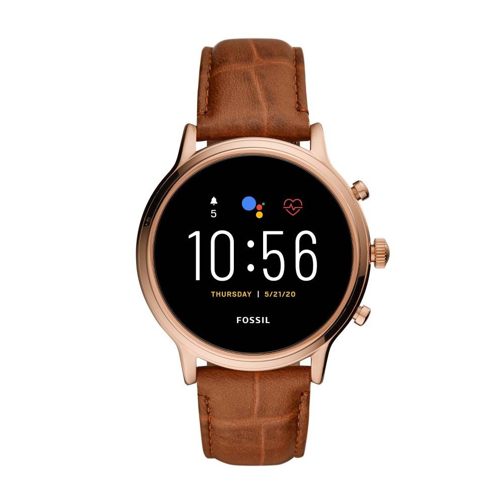 Fossil Gen 5 Smartwatch - Julianna HR Brown Croco Leather was $295.99 now $199.0 (33.0% off)