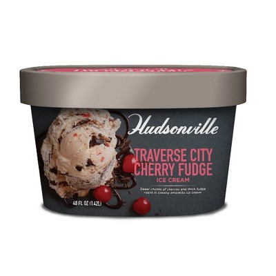 Hudsonville Traverse City Cherry Fudge Ice Cream - 48oz