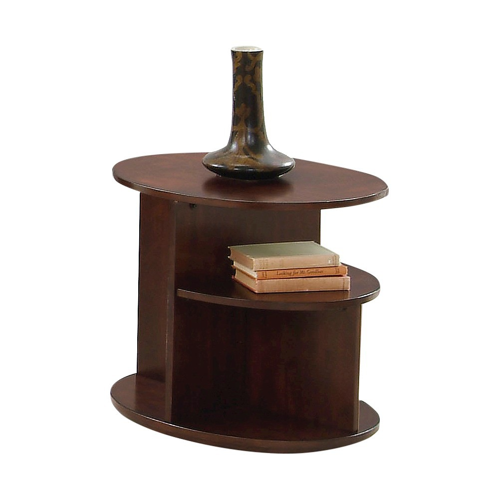 Metropolitan End Table - Dark Cherry & Birch - Progressive Furniture