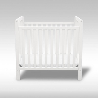 Delta Children Classic Mini Crib with 2.75'' Mattress - Convertible to Twin Bed, Greenguard