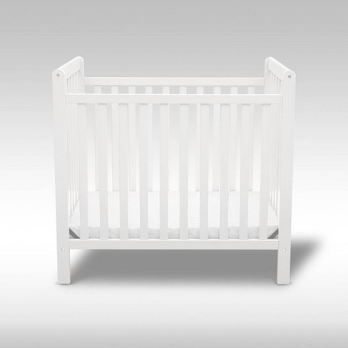 Delta Children Classic Mini Crib with 2.75'' Mattress - Convertible to Twin Bed, Greenguard - image 1 of 4