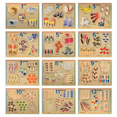 Puzzleworks Number Puzzles  - Set of 12