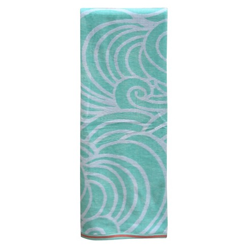 Waves XL Beach Towel Mint - Evergreen® - image 1 of 1