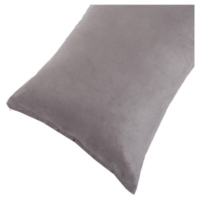 Soft Microsuede Body Pillow Cover (51.5 x17 )Gray - Yorkshire Home®
