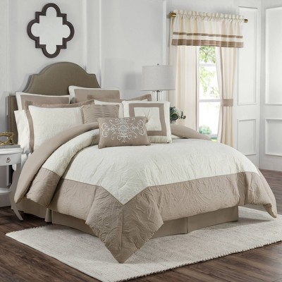 Full 4pc Bensonhurst Comforter Set Ivory - Vue