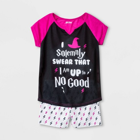 Girls' Harry Potter 2pc Pajama Set - Black - image 1 of 1