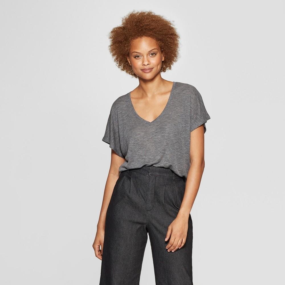 Women's Short Sleeve V-Neck T-Shirt - Prologue Gray Xxl