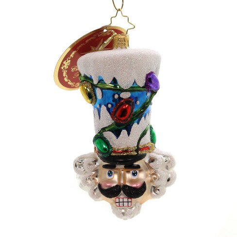 "Christopher Radko 4.5"" Top Hat Of His Class Nutcracker Lights - image 1 of 2"