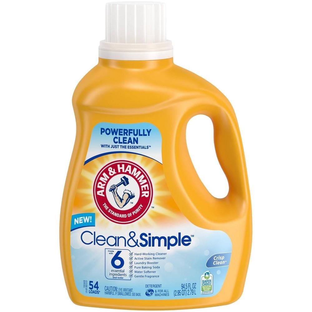 Arm & Hammer Clean & Simple Liquid Laundry Detergent - 94.5 fl oz