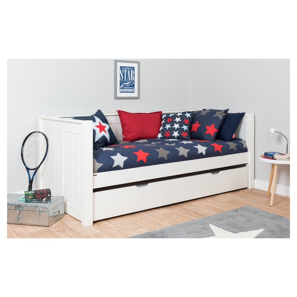 Image of Bed Storage Drawer - Twin - White - NUI&KIDS