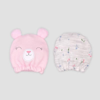 Baby Girls' 2pk Bear Mittens - Just One You® made by carter's Pink