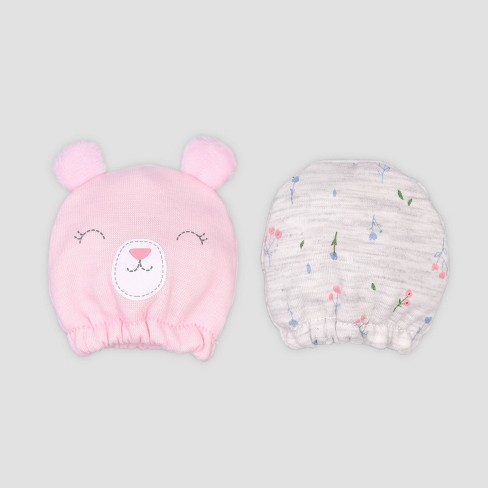 Baby Girls' 2pk Bear Mittens - Just One You® made by carter's Pink - image 1 of 1