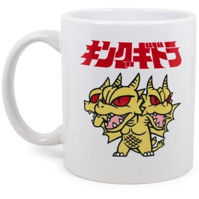 Surreal Entertainment Godzilla Chibi King Ghidorah Ceramic Mug Exclusive | Holds 11 Ounces