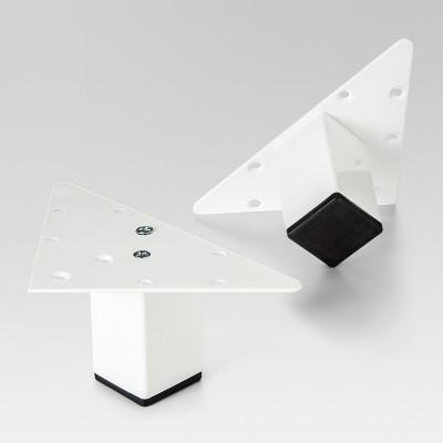 2pk Metal Feet for Cube Organizers - White - Threshold™