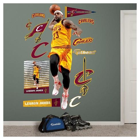 2f23bfc2b00 NBA® Cleveland Cavaliers Lebron James Up Fathead Wall Decal Set   Target
