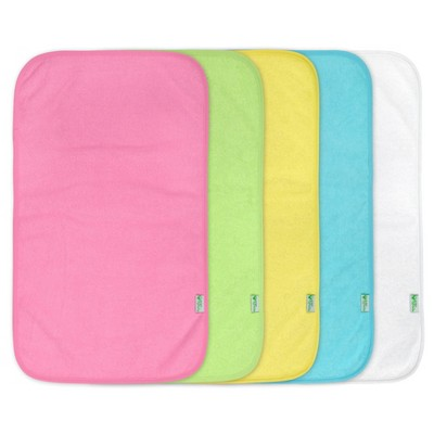 green sprouts Stay-Dry Burp Pads (5pk)- Pink Set