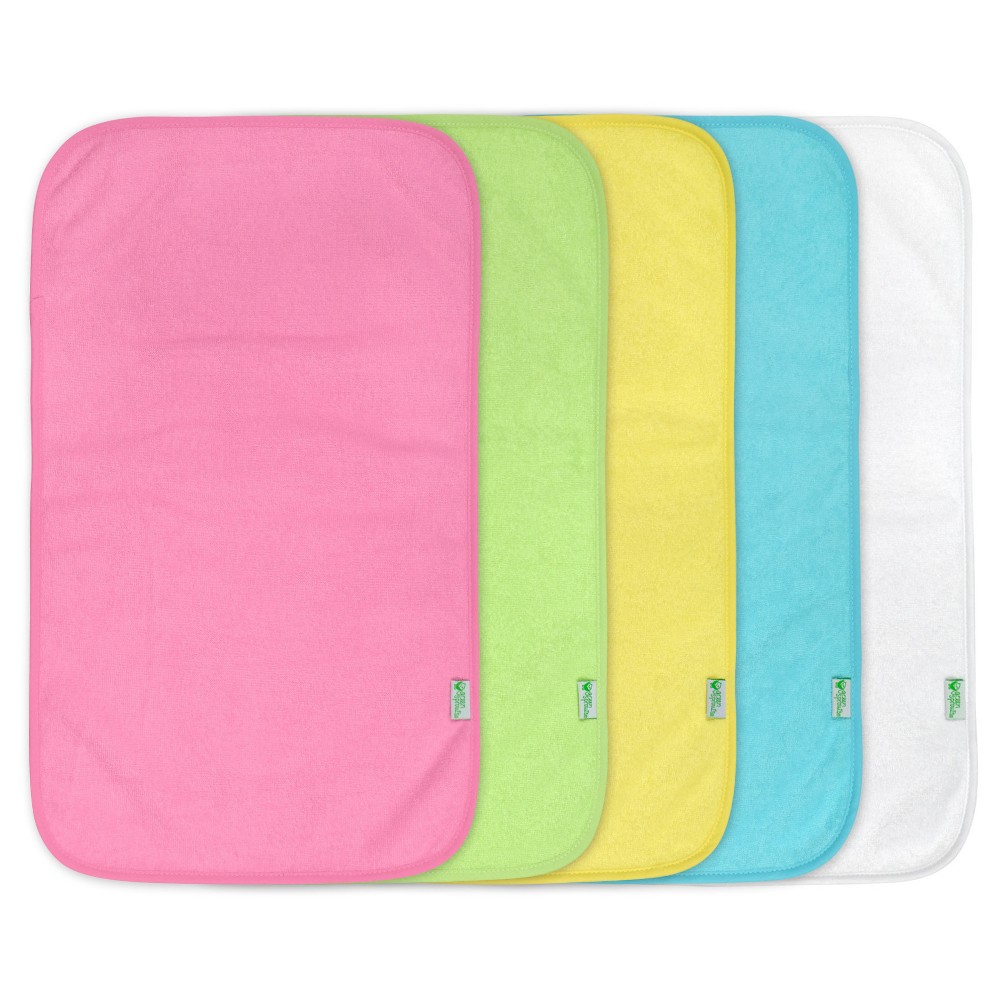 Green Sprouts Stay-Dry Burp Pads (5 pack) - Pink Set
