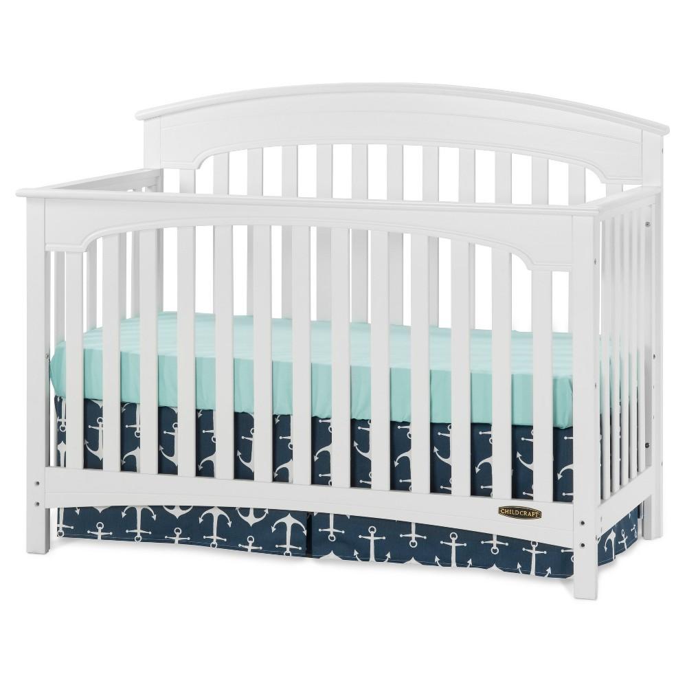Child Craft Standford 4-in-1 Convertible Crib - Matte White