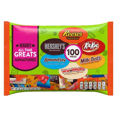 All Time Greats Reese's, Hershey's, Kit Kat, Almond Joy, Whoppers and Milk Duds Halloween Minis - 100ct/32.2oz
