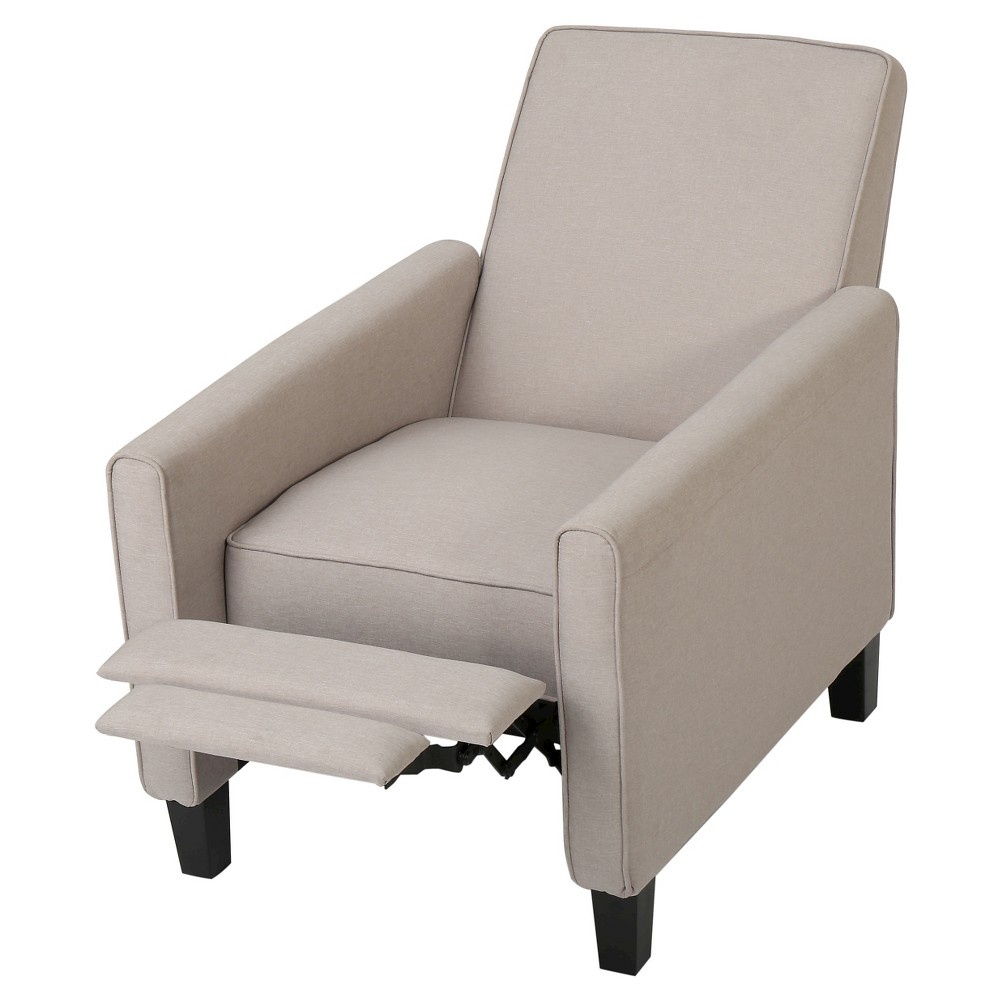 Darvis Fabric Recliner Club Chair - Wheat - Christopher Knight Home