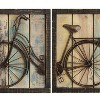 """( Set of 2) 16"""" x 16"""" Rustic Bicycle Wall Decor Multicolor - Stratton Home Dcor - image 3 of 4"""