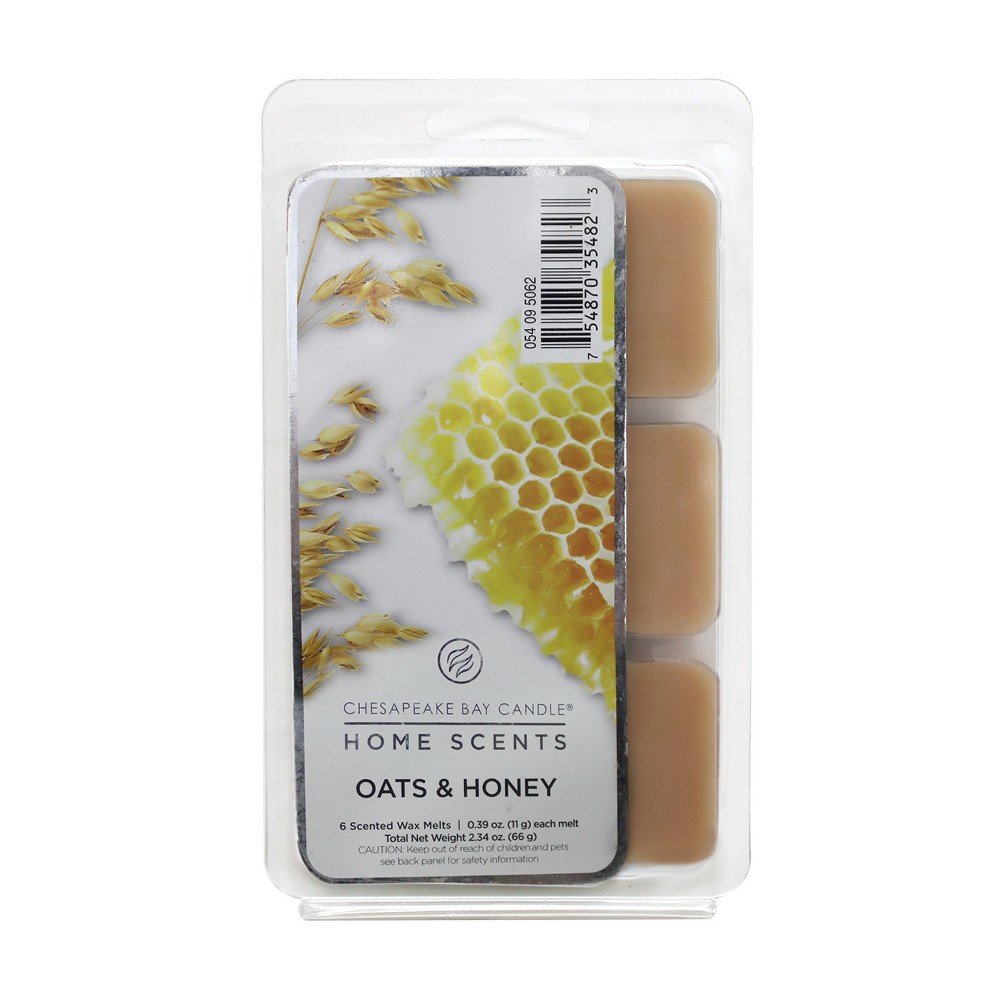 6pk Wax Melts Oats & Honey - Chesapeake Bay Candle, Tan