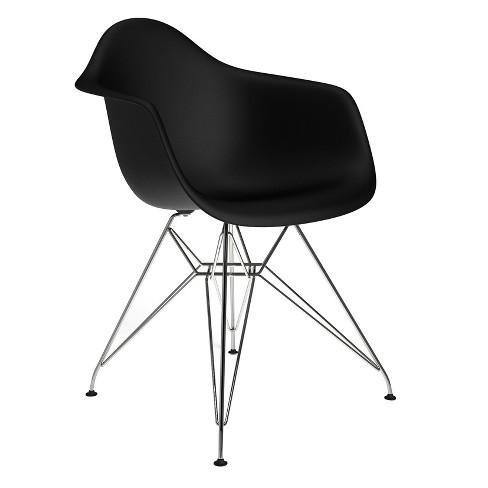 Sasha Mid Century Modern Dining Chair - Black Matte - Aeon - image 1 of 1