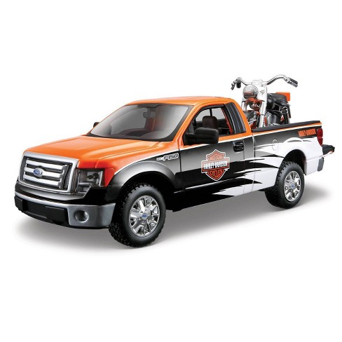 Harley-Davidson 58 FLH Duo Glide & Ford F-150 STX Diescast Vehicle - image 1 of 1