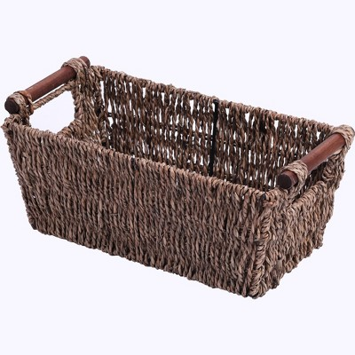 Vintiquewise Seagrass Counter-Top Basket Great for Folded Paper Towel