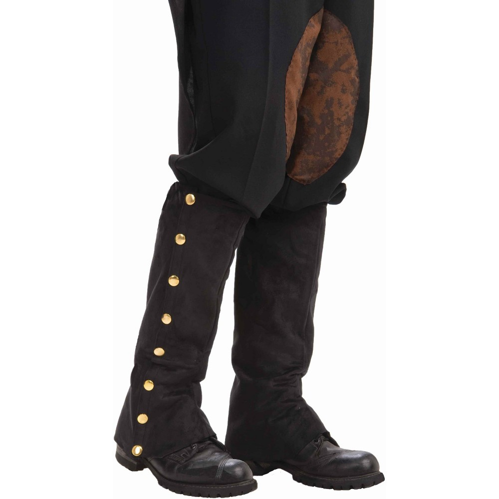 Adult Steampunk Spats Costume, Men's, Black