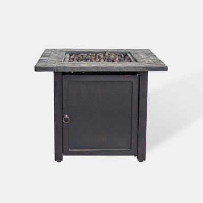 Rocksprings 30  Wide Square Fire Table - Brown - Threshold™