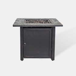 "Rocksprings 30"" Wide Square Fire Table - Brown - Threshold™"