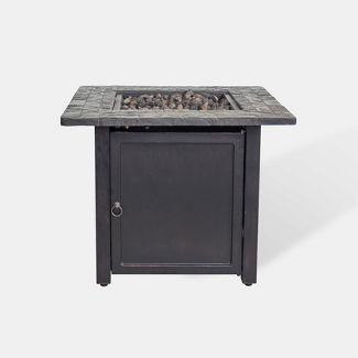 Rocksprings 30u0022 Wide Square Fire Table - Brown - Threshold™