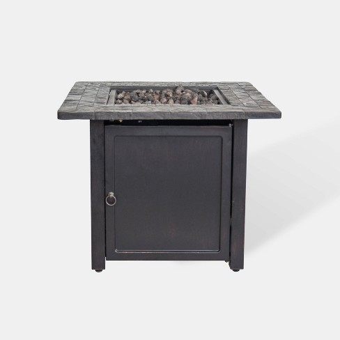 """Rocksprings 30"""" Wide Square Fire Table - Brown - Threshold™ - image 1 of 2"""