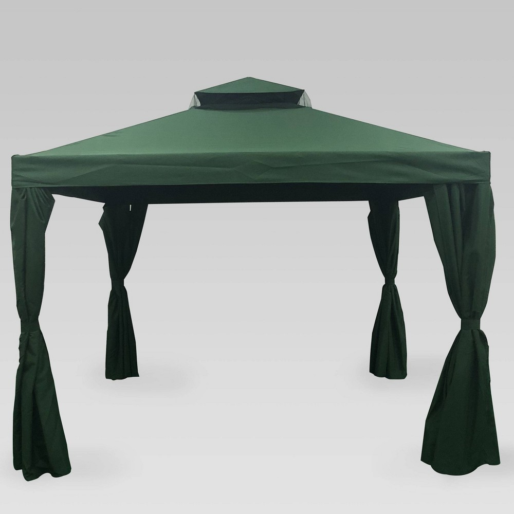Image of 10'x10' Arizona Steel Gazebo Forest Green - Christopher Knight Home